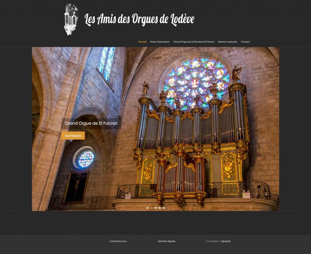Site internet Les Amis des Orgues de Lodève