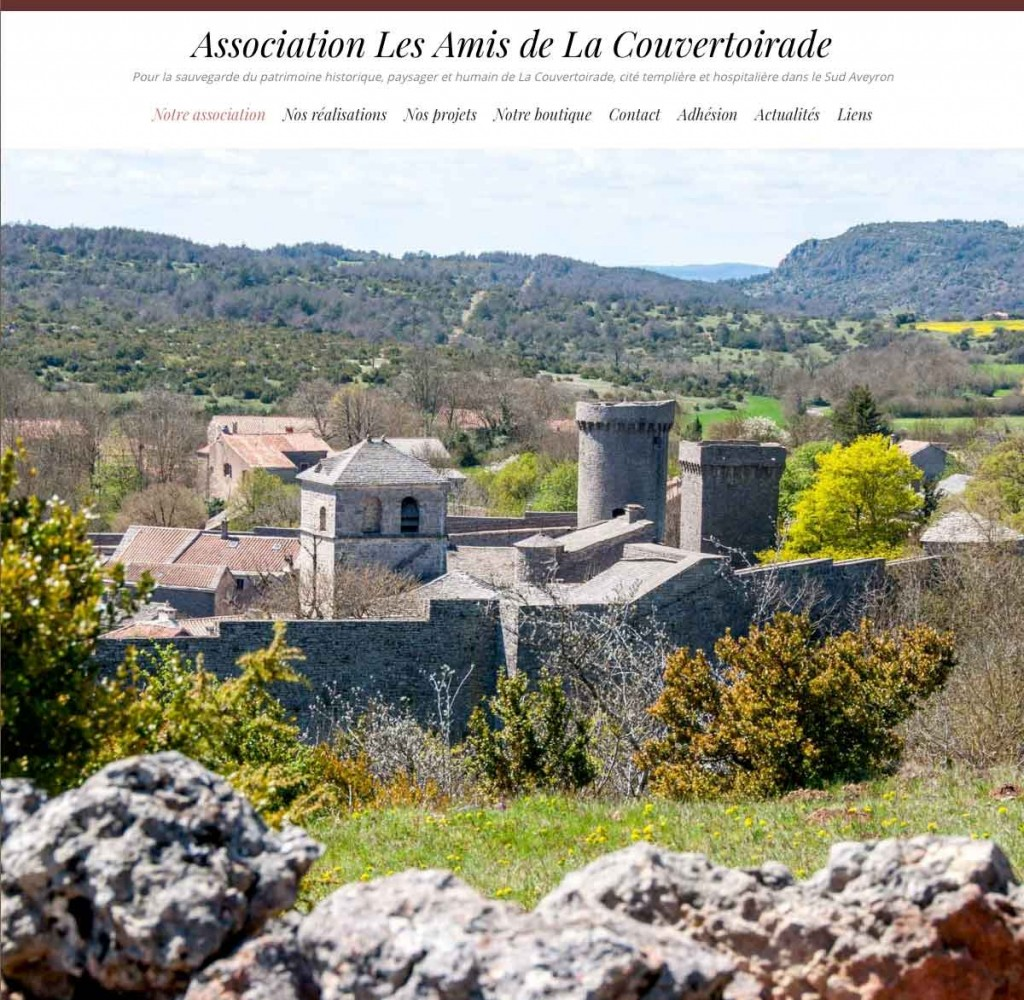 Site internet Les Amis de La Couvertoirade