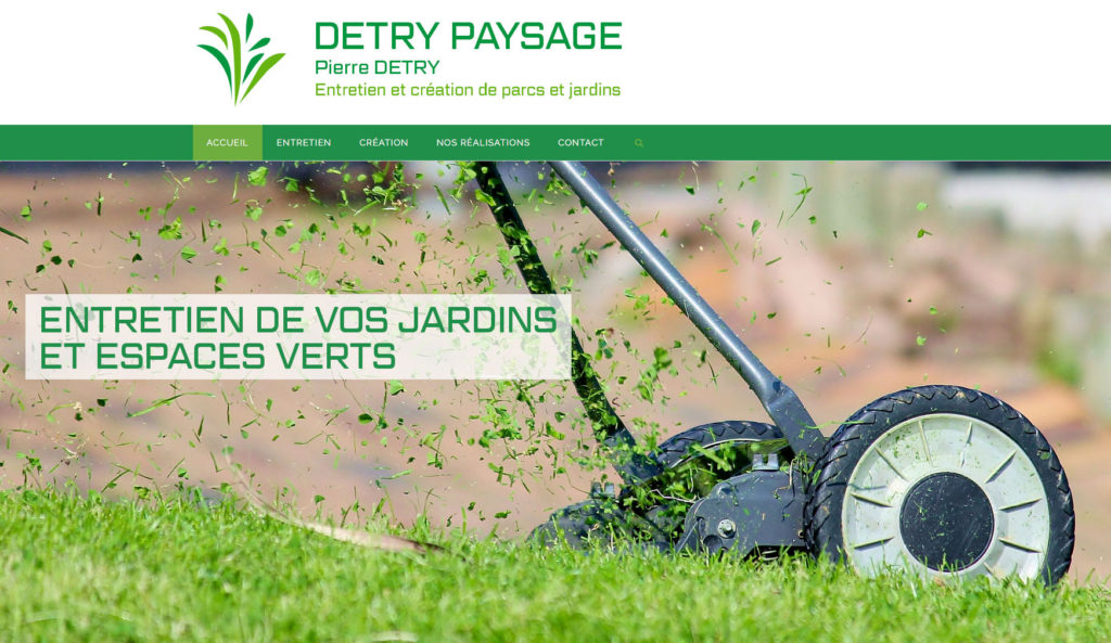 Site Web Detry Paysage